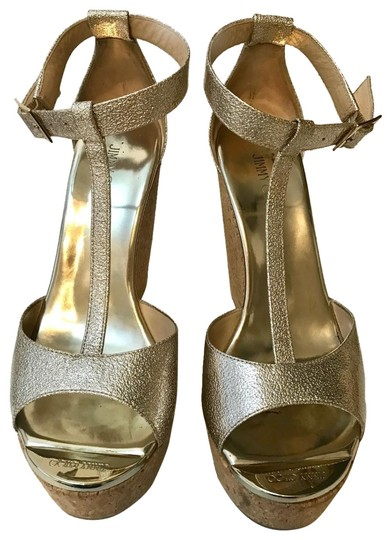 Preload https://img-static.tradesy.com/item/24946244/metallic-gold-pela-textured-patent-wedge-platforms-size-eu-38-approx-us-8-regular-m-b-0-1-540-540.jpg