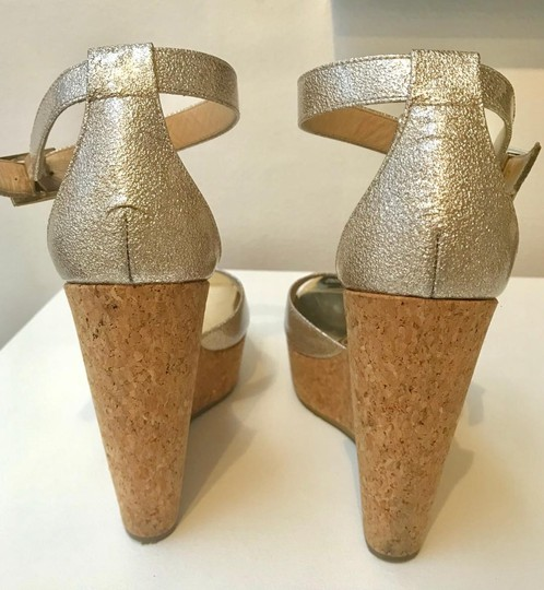 Jimmy Choe Metallic Gold Platforms Image 6