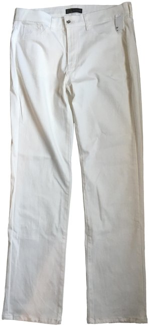Off White Summer Straight Leg Jeans Size 34 (12, L) Off White Summer Straight Leg Jeans Size 34 (12, L) Image 1