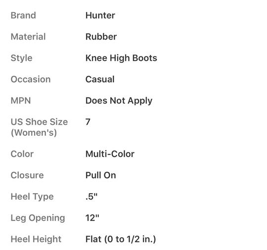 Hunter COLOR BLOCK Boots Image 5