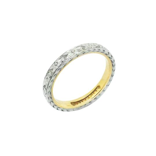 Preload https://img-static.tradesy.com/item/24946386/silver-gold-18k-two-tone-engraved-orange-blossom-ring-women-s-wedding-band-0-1-540-540.jpg