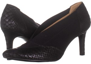 741e260e1f8 Naturalizer Black Dinah Loafer Pumps 262 Patent W Platforms Size US ...