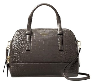 Kate Spade Leather Gray Leather Satchel in Deep Graphite