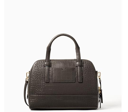 Kate Spade Leather Gray Leather Satchel in Deep Graphite Image 1