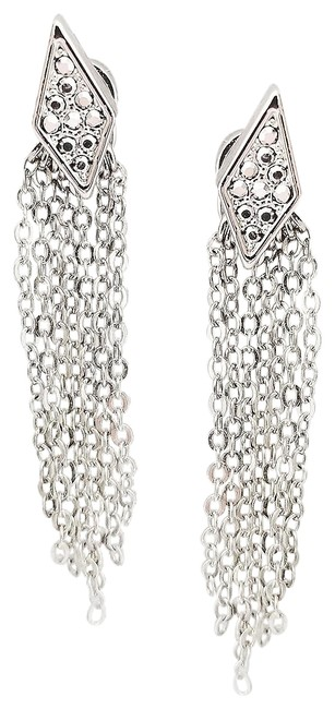 Rebecca Minkoff Silver Pave Accented Earrings Rebecca Minkoff Silver Pave Accented Earrings Image 1