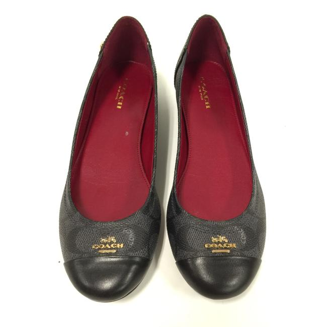 Item - Black / Grey / Red Chelsea Womens Cap Toe Slide Flats Size US 6 Regular (M, B)