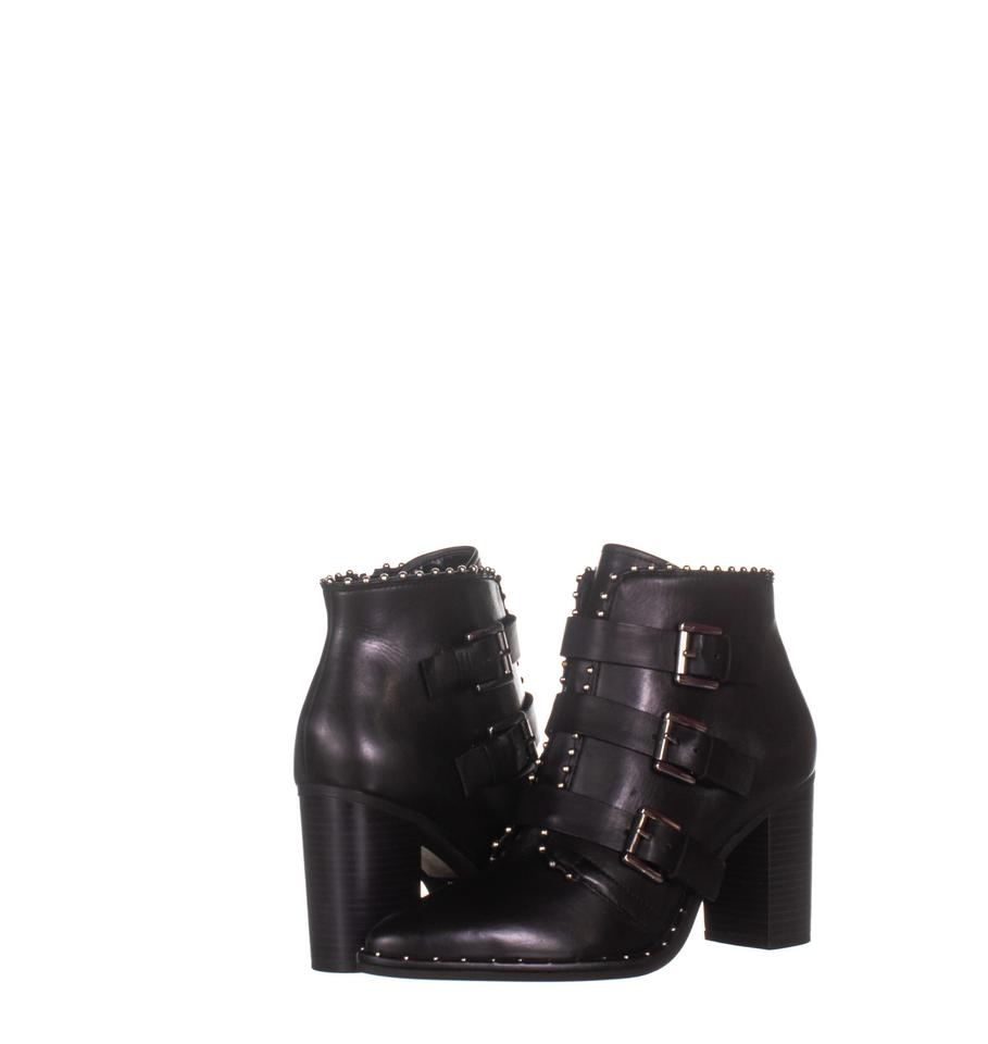 8c13eec51cf Steve Madden Black Humble Triple Buckle 345 Boots Booties Size US ...
