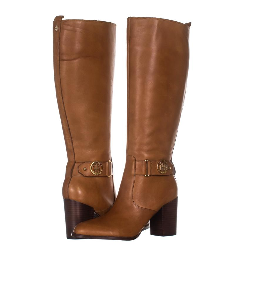d8e2c14aafd Tommy Hilfiger Brown Deeanne Knee High 310 Medium Leather Boots ...