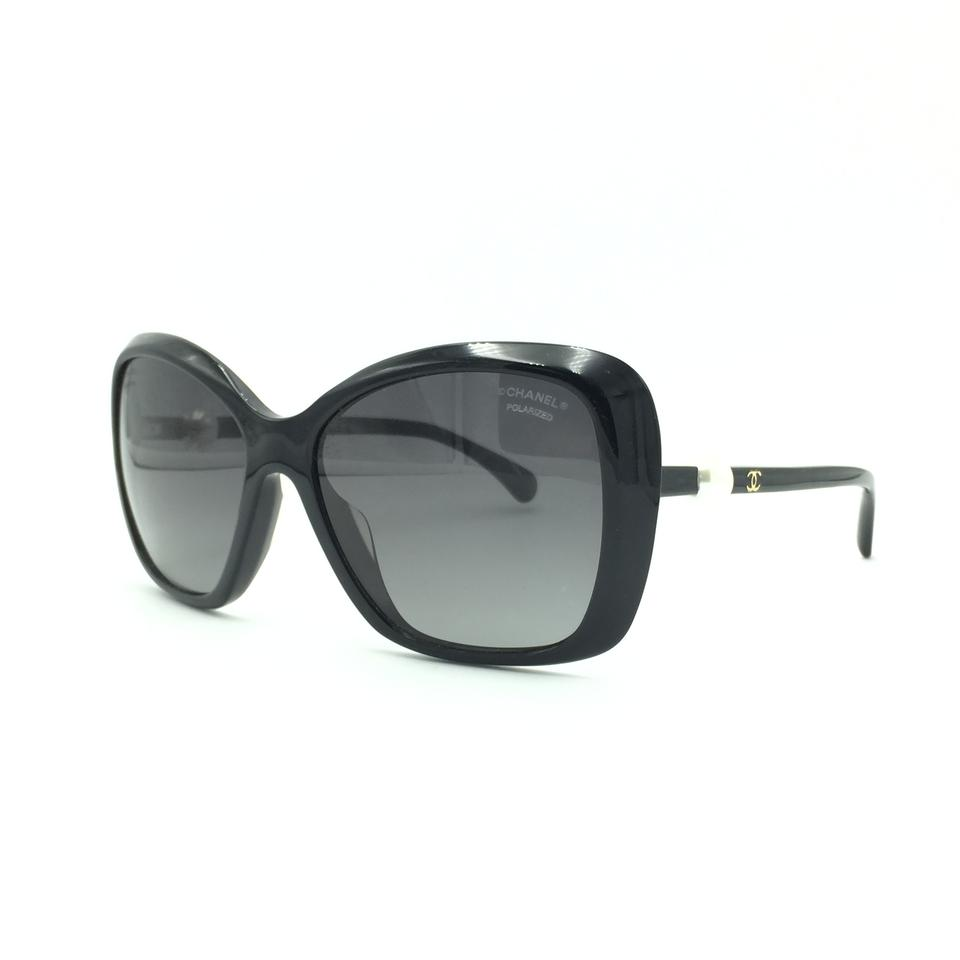 748600779aa Chanel Black Pearl Butterfly Polarized Sunglasses 5303 501 S8 Image 0 ...