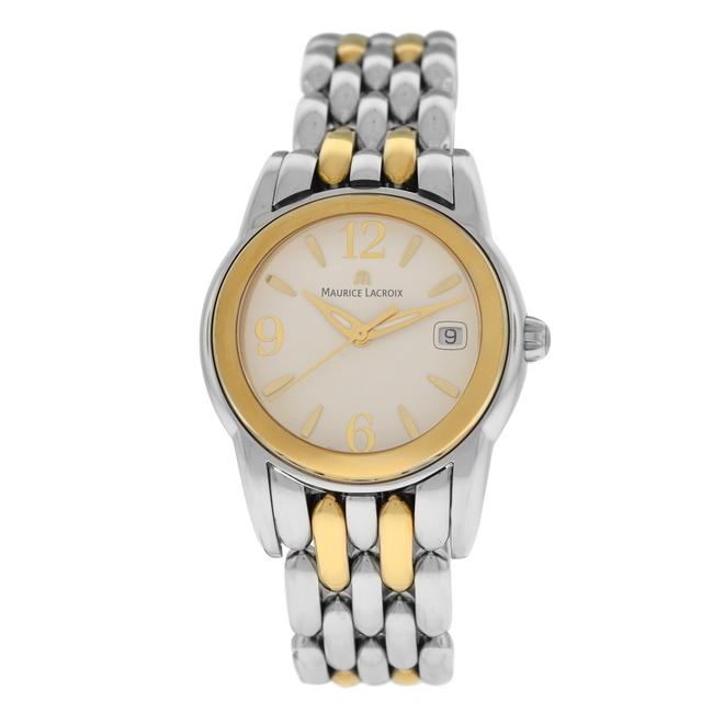 Maurice Lacroix Silver Gold New Ladies Sphere Sh1014-sy023-720 Steel Watch Maurice Lacroix Silver Gold New Ladies Sphere Sh1014-sy023-720 Steel Watch Image 1
