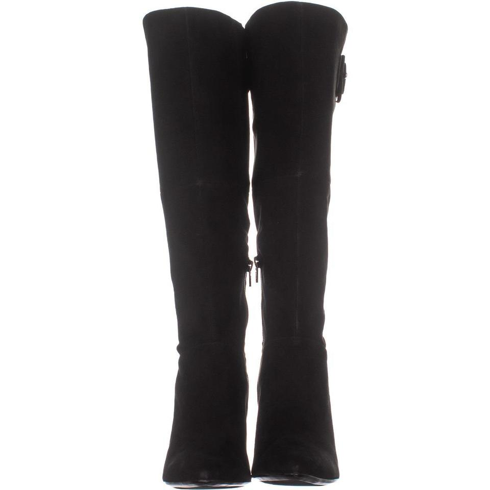 48441837271 Naturalizer Black W Harlowe Calf Knee High 299 Suede Boots/Booties Size US  6.5 Wide (C, D) 64% off retail