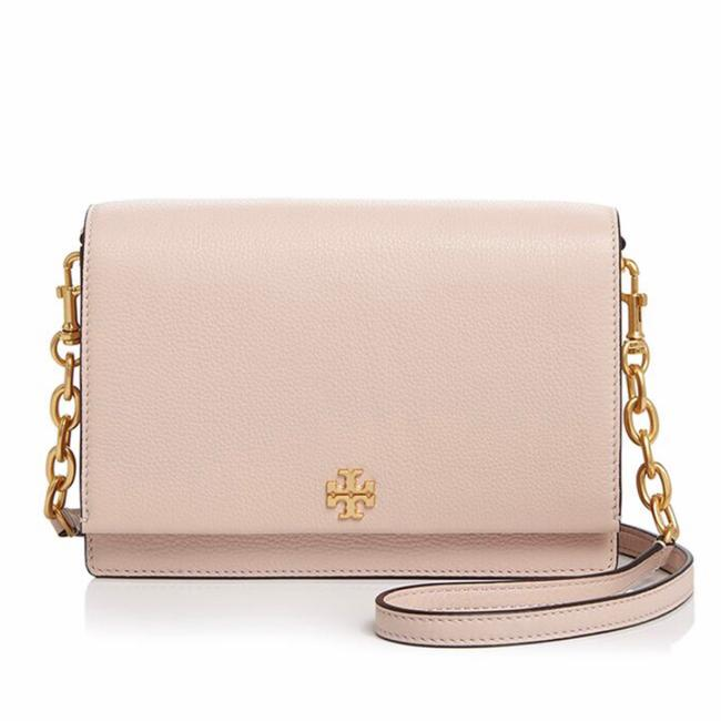 Tory Burch Georgia Combo Shell Pink Leather Cross Body Bag Tory Burch Georgia Combo Shell Pink Leather Cross Body Bag Image 1