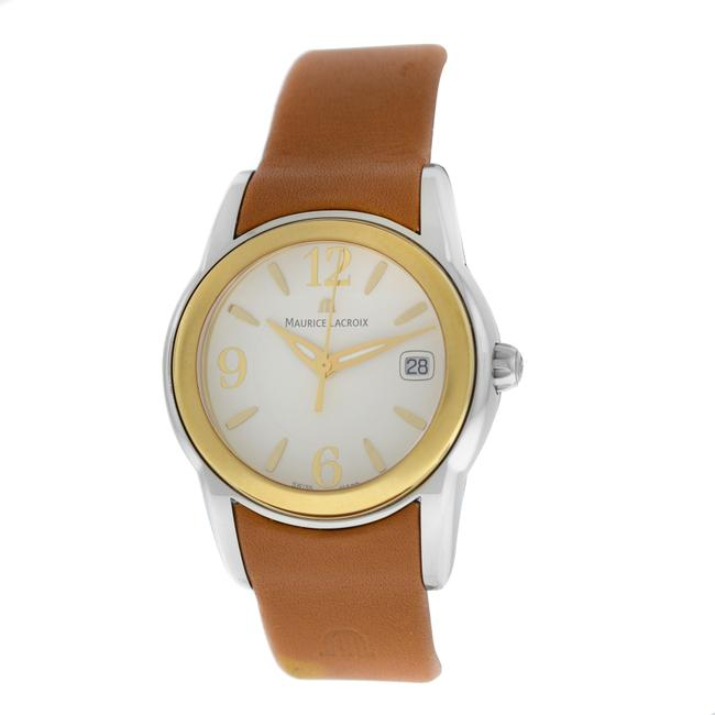 Maurice Lacroix Silver Gold New Ladies Sphere Sh1014-sy021-720 Steel Watch Maurice Lacroix Silver Gold New Ladies Sphere Sh1014-sy021-720 Steel Watch Image 1