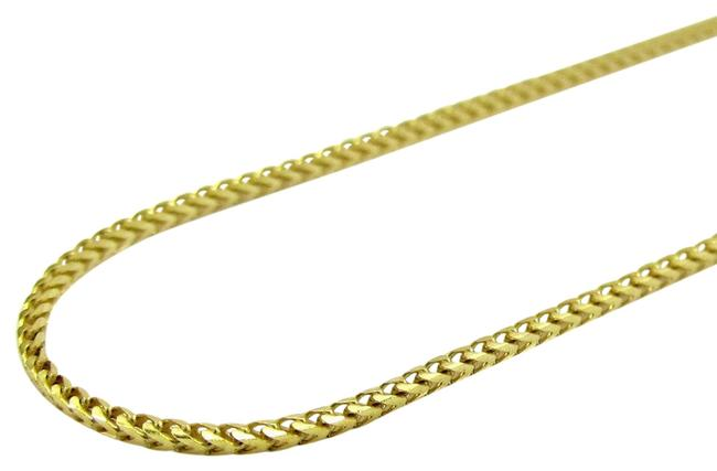 Impressed Jewelry Yellow 10k Real Gold Solid Skinny Franco Link Chain 18 Inch Necklace Impressed Jewelry Yellow 10k Real Gold Solid Skinny Franco Link Chain 18 Inch Necklace Image 1