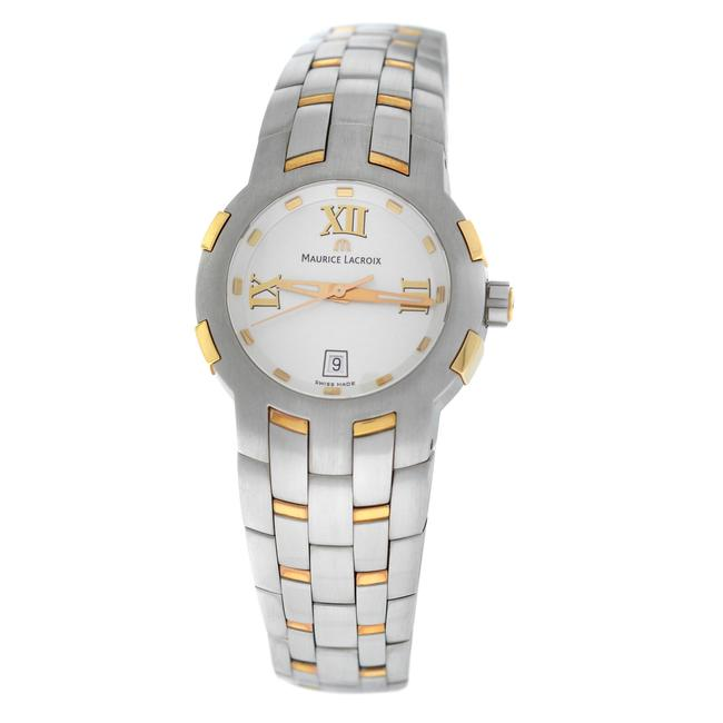 Maurice Lacroix Silver Gold New Lady Milestone Ms1013-ps103-110 Steel Watch Maurice Lacroix Silver Gold New Lady Milestone Ms1013-ps103-110 Steel Watch Image 1