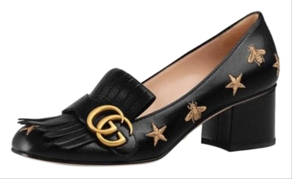1f22877e9af6ee Gucci Marmont Bee and Star Loafer Pumps Size EU 39 (Approx. US 9 ...