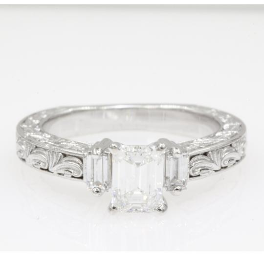 Preload https://img-static.tradesy.com/item/24946981/14k-white-gold-111-carat-emerald-cut-3-stone-vintage-engagement-ring-0-0-540-540.jpg
