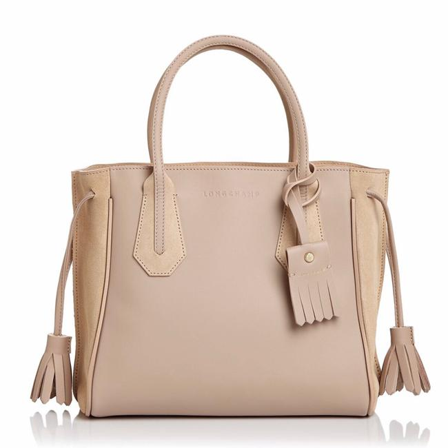 Longchamp Penelope Fantaisie Small Sand Leather Tote Longchamp Penelope Fantaisie Small Sand Leather Tote Image 1