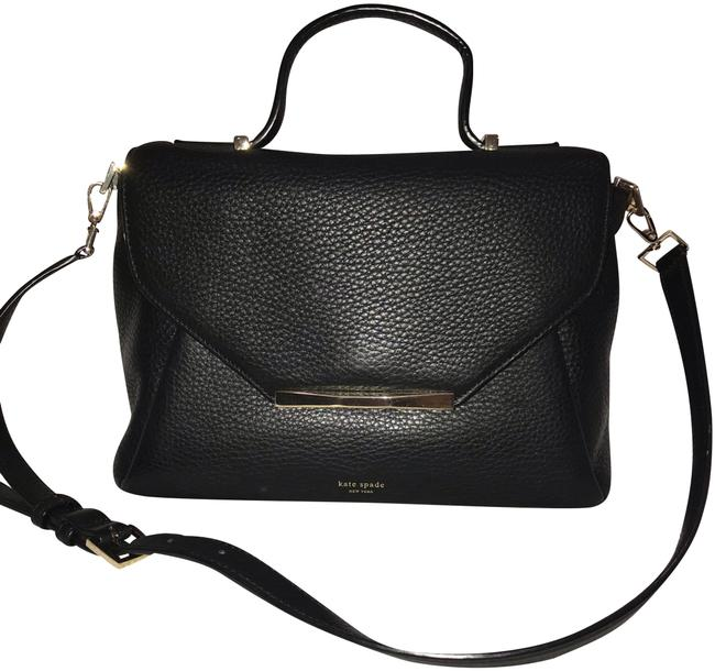 Kate Spade Black Leather Satchel Kate Spade Black Leather Satchel Image 1