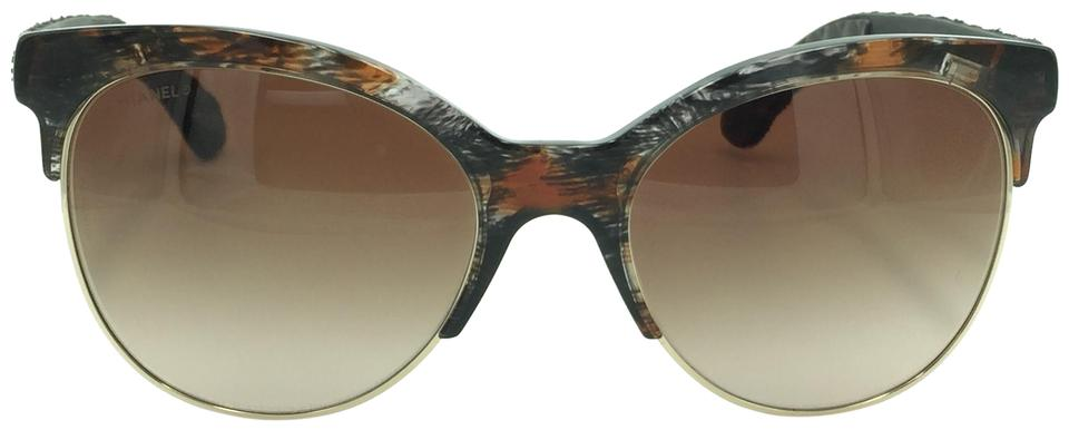 977f22e7adf Chanel Chanel Cat Eyed Black Pantos Quilted Denim Style Sunglasses 5342  1554 Image 0 ...