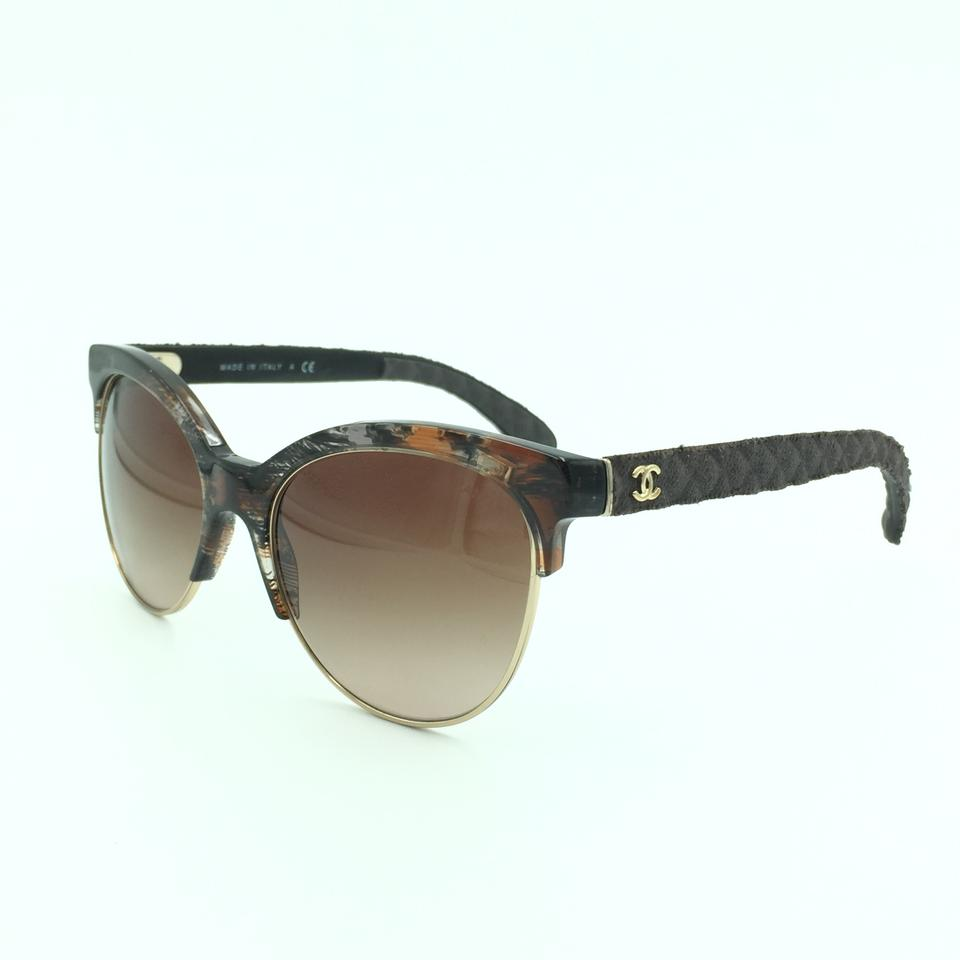 5c6483177e3 Chanel Chanel Cat Eyed Black Pantos Quilted Denim Style Sunglasses 5342  1554 Image 7. 12345678