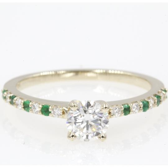 Preload https://img-static.tradesy.com/item/24947086/14k-yellow-gold-61-carat-round-cut-with-emerald-engagement-ring-0-0-540-540.jpg