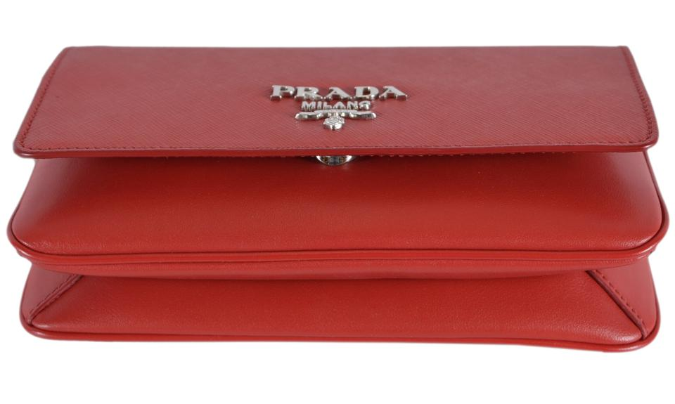 bf6712be876b Prada Pattina New Soft Calf Red Saffiano Leather Cross Body Bag - Tradesy