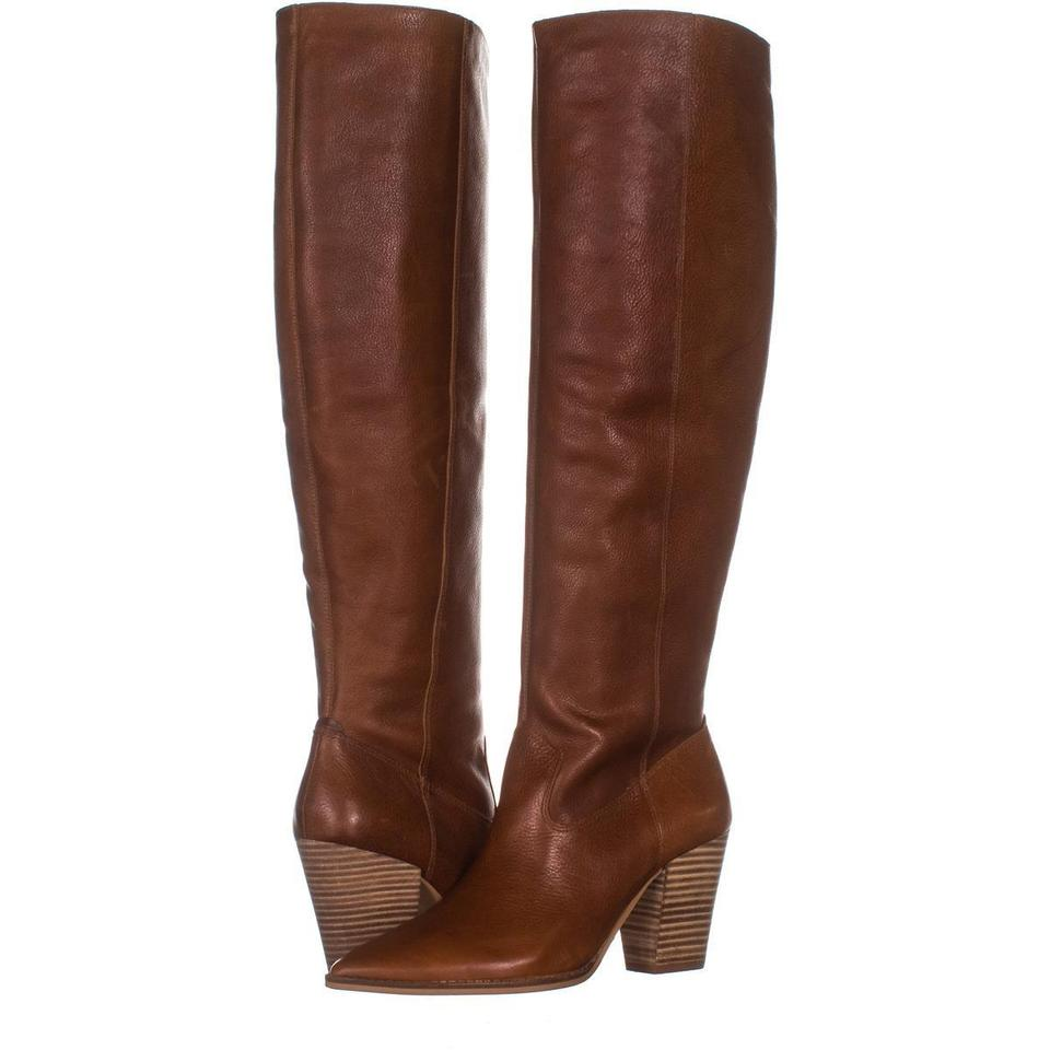 1ee2018712f Lucky Brand Brown Azoola Pointed Toe Knee High 102 Whiskey   Boots Booties