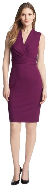 Preload https://img-static.tradesy.com/item/24947452/classiques-entier-purple-new-italian-ponte-knit-surplice-short-workoffice-dress-size-4-s-0-1-650-650.jpg