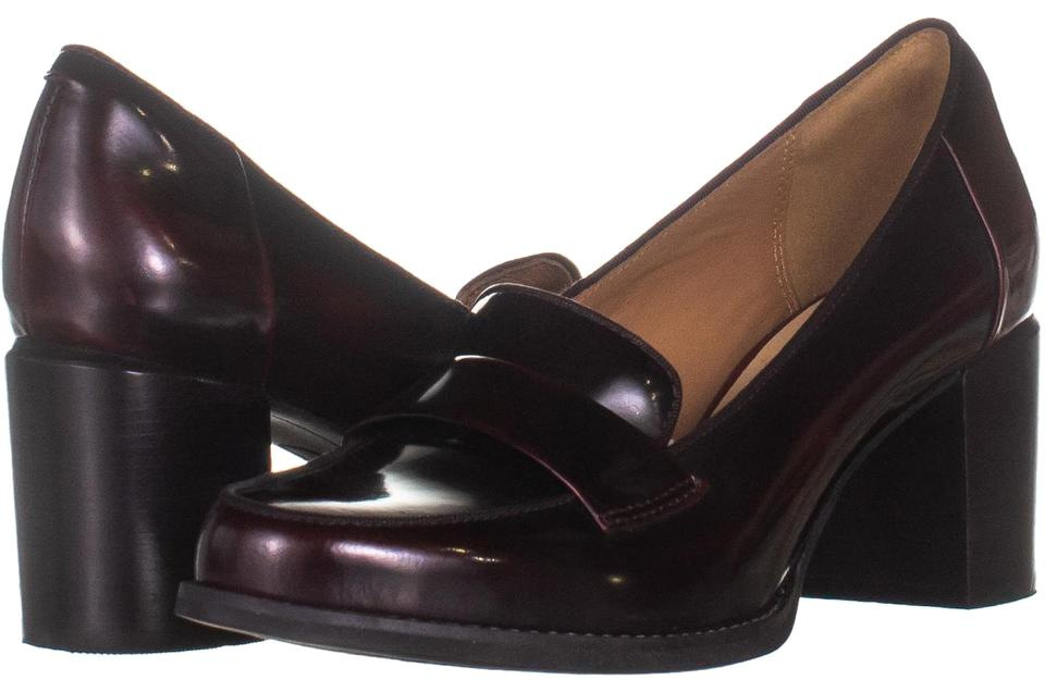 978d5b0f4ae Clarks Red Tarah Grace Block Heel Penny Loafer Heels 983 Burgundy / Pumps  Size US 7 Regular (M, B) 45% off retail