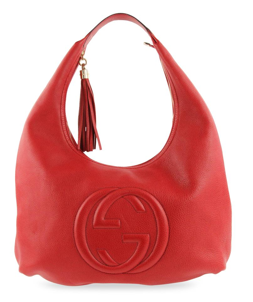 350c7a8662c11 Gucci Soho Large Red Leather Hobo Bag - Tradesy