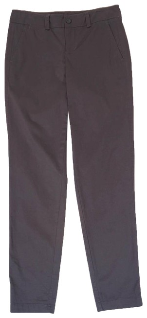 Item - Grey Womens Charcoal Stretch Straight Trousers 0 2 X 28 Pants Size 0 (XS, 25)