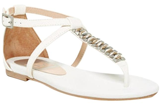 Dolce Vita White Carsen Sandals Size US 7 Regular (M, B) Dolce Vita White Carsen Sandals Size US 7 Regular (M, B) Image 1