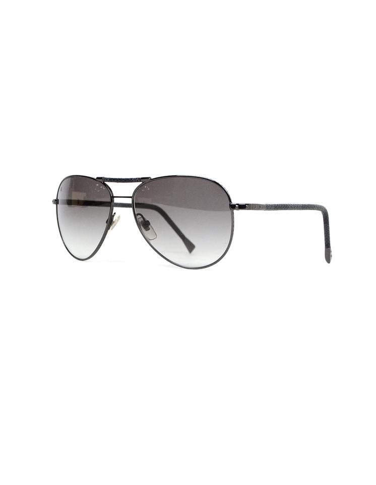 a9af72a0547c Louis Vuitton Damier Graphite Conspiration Pilote Aviator Sunglasses Image  0 ...