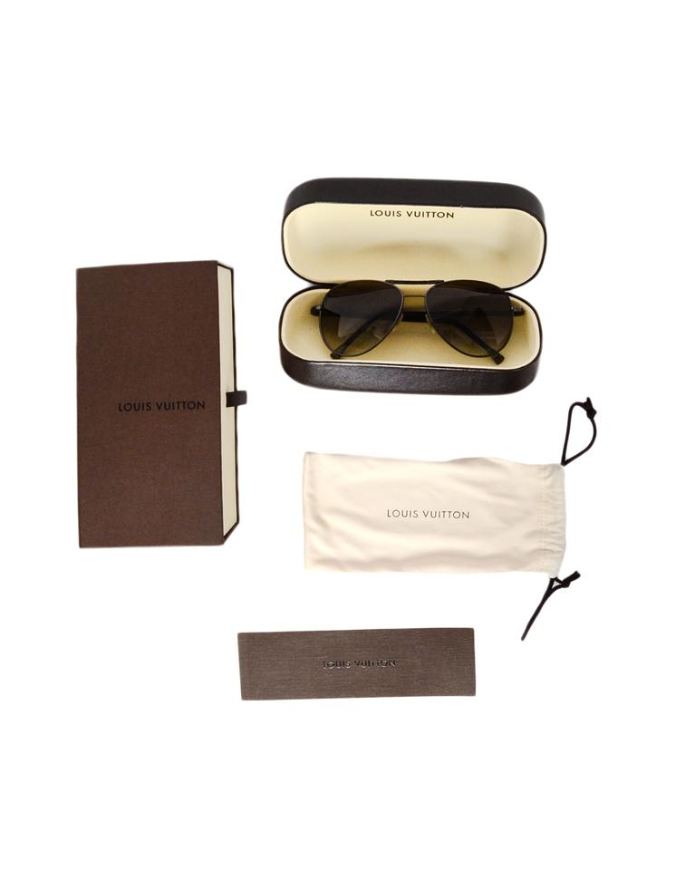 b666d77e80de Louis Vuitton Damier Graphite Conspiration Pilote Aviator Sunglasses Image  8. 123456789