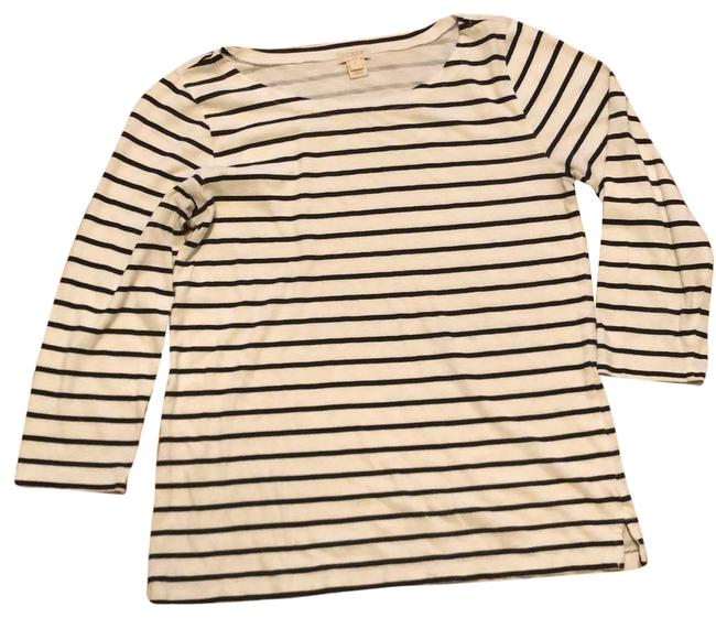 Item - Charcoal and Ivory Striped Tee Shirt Size 6 (S)