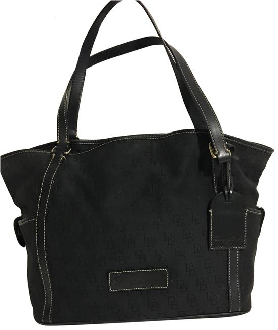 Dooney & Bourke Tote/ Shoulder Handbag Black Cotton/ Canvas Tote Dooney & Bourke Tote/ Shoulder Handbag Black Cotton/ Canvas Tote Image 1