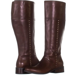 fe5e3f9fc5a Marc Fisher Brown Galaya Wide Calf Knee High 903 Dark Leather Boots/Booties  Size US 10 Regular (M, B) 51% off retail