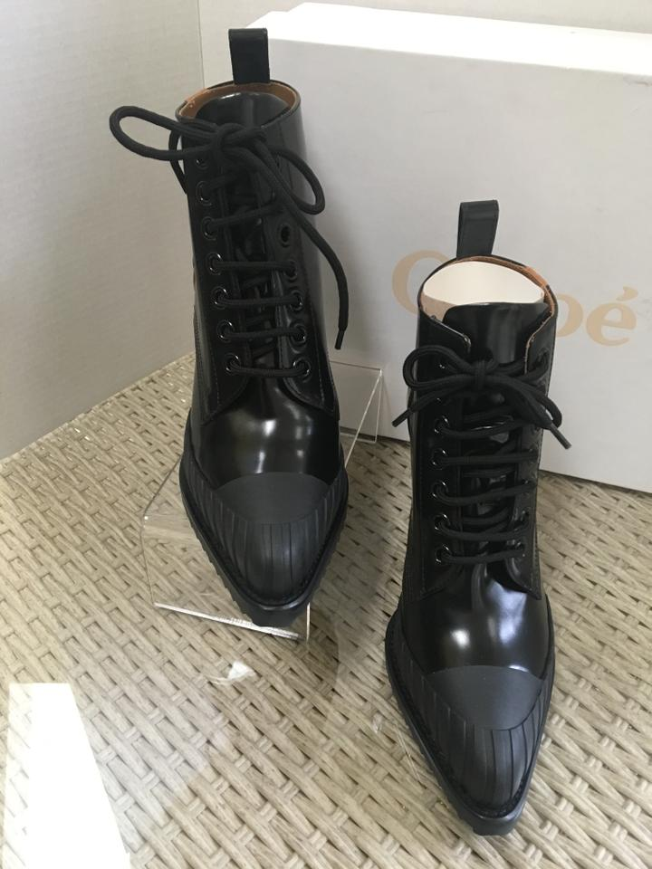 6ed21a5d57 Chloé Black with Tan Stripe Rylee Spazzolato Leather Ankle Boots/Booties  Size EU 41 (Approx. US 11) Regular (M, B) 48% off retail