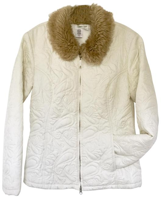 Preload https://img-static.tradesy.com/item/24948108/coldwater-creek-cream-quilted-jacket-faux-fur-collar-coat-size-6-s-0-2-650-650.jpg