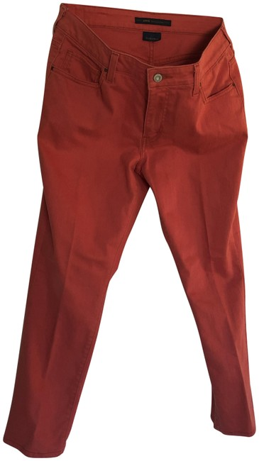 Levi's Brick Red The Capri/Cropped Jeans Size 35 (14, L) Levi's Brick Red The Capri/Cropped Jeans Size 35 (14, L) Image 1