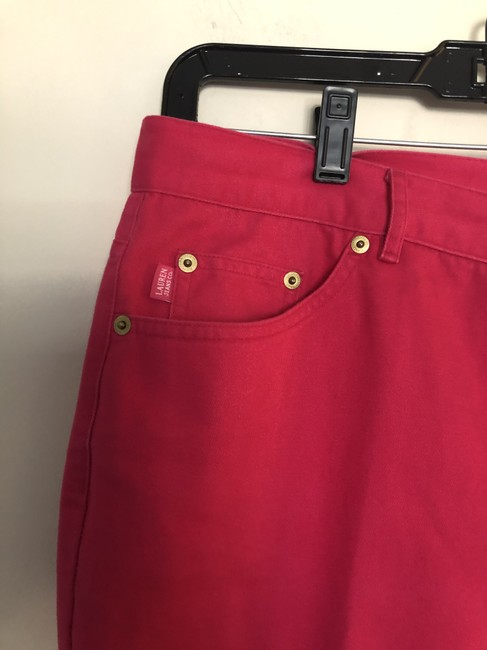 Levi's Brick Red The Capri/Cropped Jeans Size 35 (14, L) Levi's Brick Red The Capri/Cropped Jeans Size 35 (14, L) Image 2