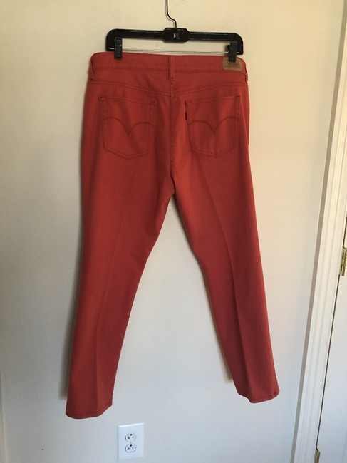 Levi's Brick Red The Capri/Cropped Jeans Size 35 (14, L) Levi's Brick Red The Capri/Cropped Jeans Size 35 (14, L) Image 5