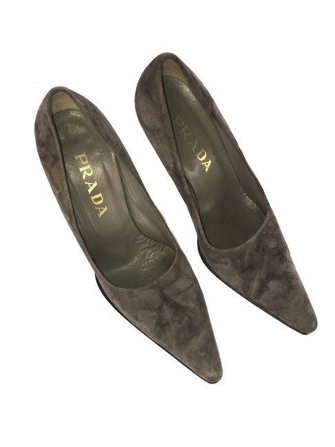 "Item - Grey / Black Marbled Suede Platform 4"" Pumps Size EU 37.5 (Approx. US 7.5) Regular (M, B)"