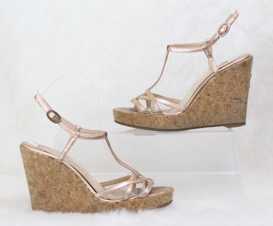 a17a8e296473 Christian Louboutin Pink Metallic Leather Wedges Size EU 39 (Approx. US 9)  Regular (M