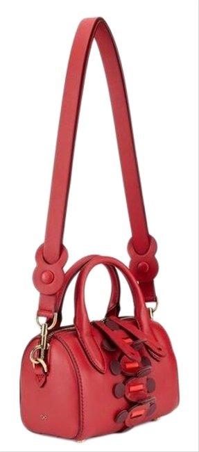 Anya Hindmarch Mini Vere Satchel Red Leather Cross Body Bag Anya Hindmarch Mini Vere Satchel Red Leather Cross Body Bag Image 1