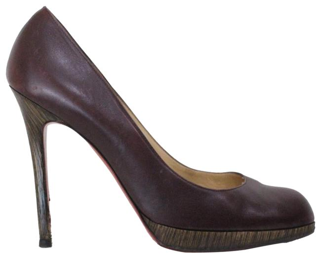 "Christian Louboutin Brown ""New Simple"" Leather Pumps Size EU 40 (Approx. US 10) Regular (M, B) Christian Louboutin Brown ""New Simple"" Leather Pumps Size EU 40 (Approx. US 10) Regular (M, B) Image 1"