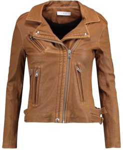 IRO brown camel tan Leather Jacket