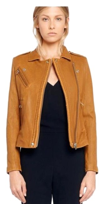 IRO brown camel tan Leather Jacket Image 1