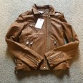 IRO brown camel tan Leather Jacket Image 2